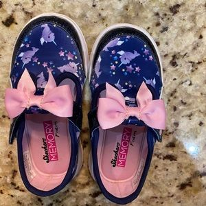 Skechers bitty bow toddler shoes size 8